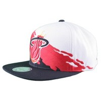 Mitchell & Ness Mitchell & Ness NBA Miami Heat Paintbrush Wool Snapback Hat Hats