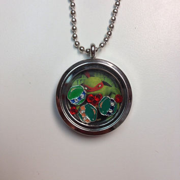 Ninja Turtle Locket with Chain