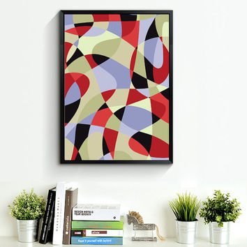 Mid Century Modern Art, Abstract Wall Art, Geometric Print, Marble, Scandinavian Design, Minimalist Decor, Poster Art *45*