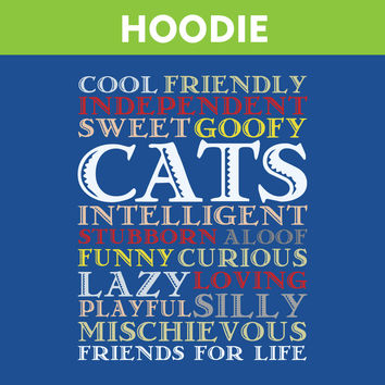 Cats Are Best Friends For Life HOODIE