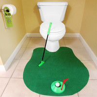 Evelots Novelty Golf Potty Putter for Bathroom - Gag Gift for Golf Enthusiasts