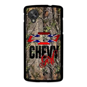 CAMO BROWNING REBEL CHEVY GIRL Nexus 5 Case Cover