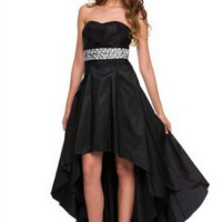 PRIMA Glitz GZ1536 Jeweled High Low Prom - Homecoming Dress