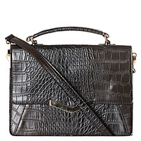 **Croc-Effect Satchel Bag by Glamorous