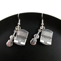 Johnlock - Laptop and Violin - Sherlock Inspired Charm Earrings