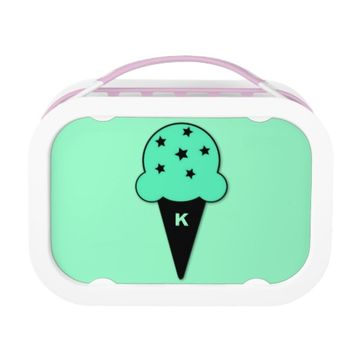 Star Chip Mint Ice Cream Cone Monogram Lunch Box