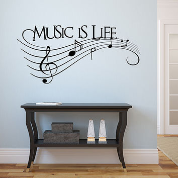 Music is Life Wall Decal Collection