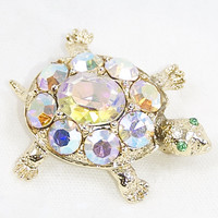 Vintage Turtle Brooch