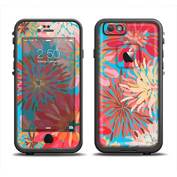 The Brightly Colored Watercolor Flowers Apple iPhone 6 LifeProof Fre Case Skin Set