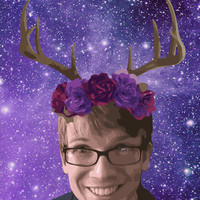 Hank Green with Antlers 11x17