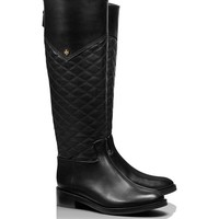 CLAREMONT TALL BOOT - QUILTED MESTICO/VEG LEATHER