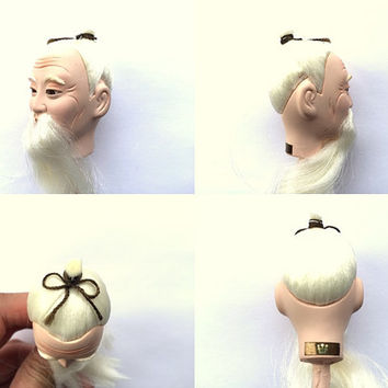 Japanese Hina Matsuri Doll Head - Doll Head - Old Man Doll Head -  Body Part D4-65