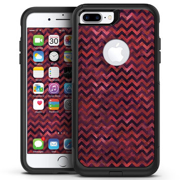 Wine Basic Watercolor Chevron Pattern - iPhone 7 or 7 Plus Commuter Case Skin Kit