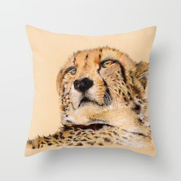 Season of the Cheetah Throw Pillow by michael jon
