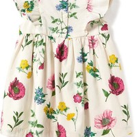 Floral Ruffle-Trim Dress for Baby | Old Navy