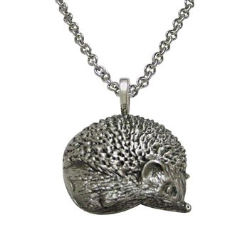 Textured Hedgehog Necklace