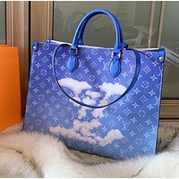 shosouvenir Louis Vuitton LV Women Shopping Leather Tote Handbag Shoulder Bag
