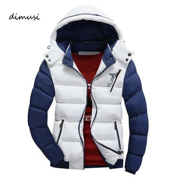 DIMUSI Winter Jacket Men Warm Down Jacket Casual Parka Men padded Winter Jacket Casual Slim Hooded Winter Coat Men 4XL,YA690