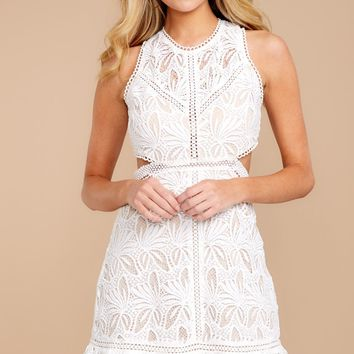 Just Once White Lace Dress