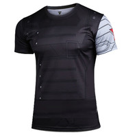 Winter Soldier Quick-dry Sports T-shirt, Breathable Short Sleeve T-shirt For Outdoor Sports.
