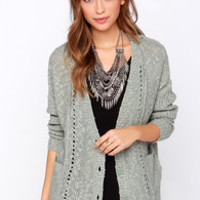 Olive & Oak Warmest Wishes Sage Green Knit Cardigan Sweater