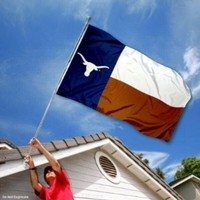 Texas Longhorns Texas State Flag