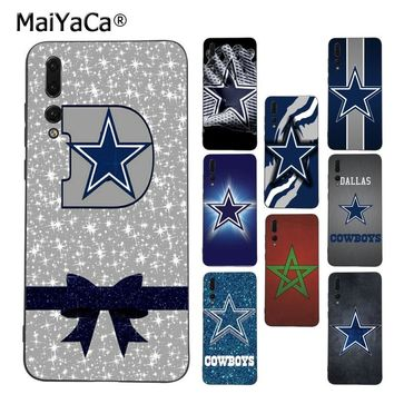 MaiYaCa Dallas Cowboys Glitter Dominant Protector phone Case for Huawei P9 10 plus 20 pro mate9 10 lite honor 10 view10 Cover