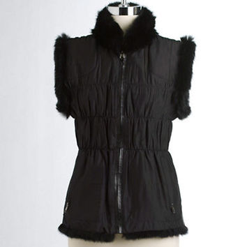 Linda Richards Reversible Rex Rabbit Fur Vest