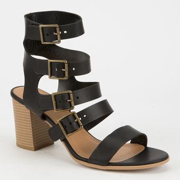 CITY CLASSIFIED Strappy Buckled Womens Heels | Heels + Wedges