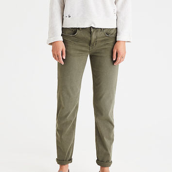 AEO Denim X Tomgirl Pant, Military Green