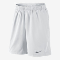 "Nike Power 9"" Woven Men's Tennis Shorts - White"