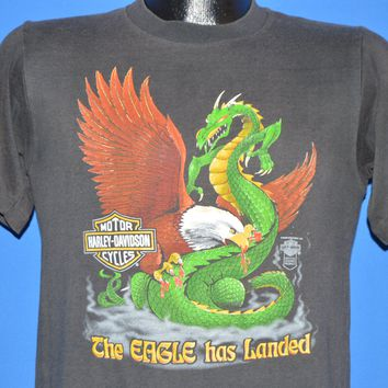 80s Harley Davidson The Eagle Has Landed t-shirt Small