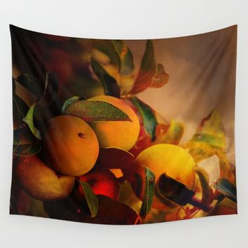 Apples In Fall - A Living Still Life Wall Tapestry by Theresa Campbell D'August Art