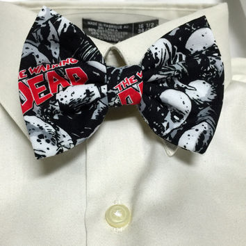Zombie Faces Black and white Print Bowtie / Bow Tie