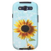 phone case sunflower colorful girly typography galaxy SIII case from Zazzle.com