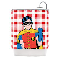"Roberlan ""The Boy Wonder Pop"" Robin Shower Curtain"