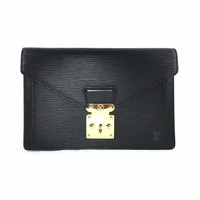 LOUIS VUITTON Epi Pochette Sellier Dragonne Clutch