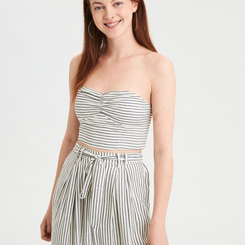 AE Striped Tube Top, Navy