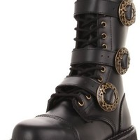 Steam-12 Men's Steampunk Steel Toe Boot by Demonia Shoes