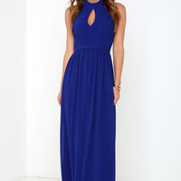 Ooh Gala-La Royal Blue Maxi Dress