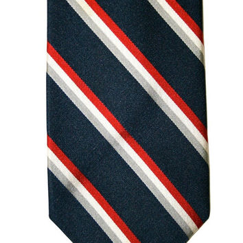 Vintage Striped Italian Silk Necktie