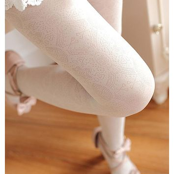 W702 Free Shipping New vintage pattern sexy woman's 120D tights stockings high quality Tights 6 colors