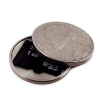 US Mint Nickel - Micro SD Covert Coin - Secret Compartment US Nickel