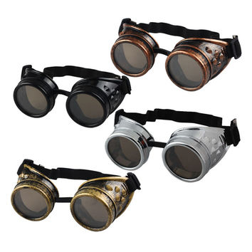 Men Steampunk Goggles Glasses