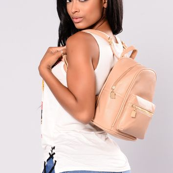 There She Goes Backpack - Tan