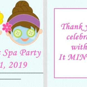 20 Spa Party Birthday Party Mint Favors