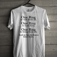 The Lord of the Rings One Ring TShirt -END Unisex T- Shirt For Man And Woman / T-Shirt / Custom T-Shirt