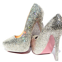 Custom Swarovski Crystal Heel (Your Color Choice!)