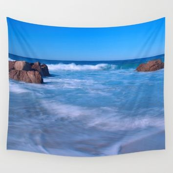 Baby Blues Wall Tapestry by Leah Poquette