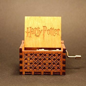Hand Crafted HP Engraved Wooden Music Box